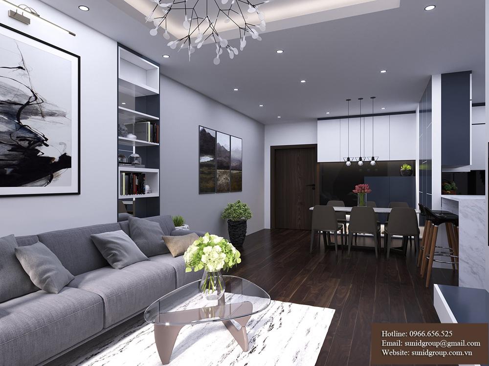 thiết kế nội thất chung cư rẻ đẹp tại hà nội 11