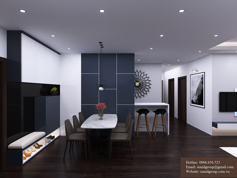 thiết kế nội thất chung cư rẻ đẹp tại hà nội 2