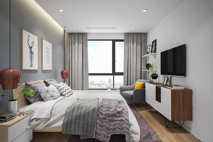 thiết kế phòng ngủ gọn gàng