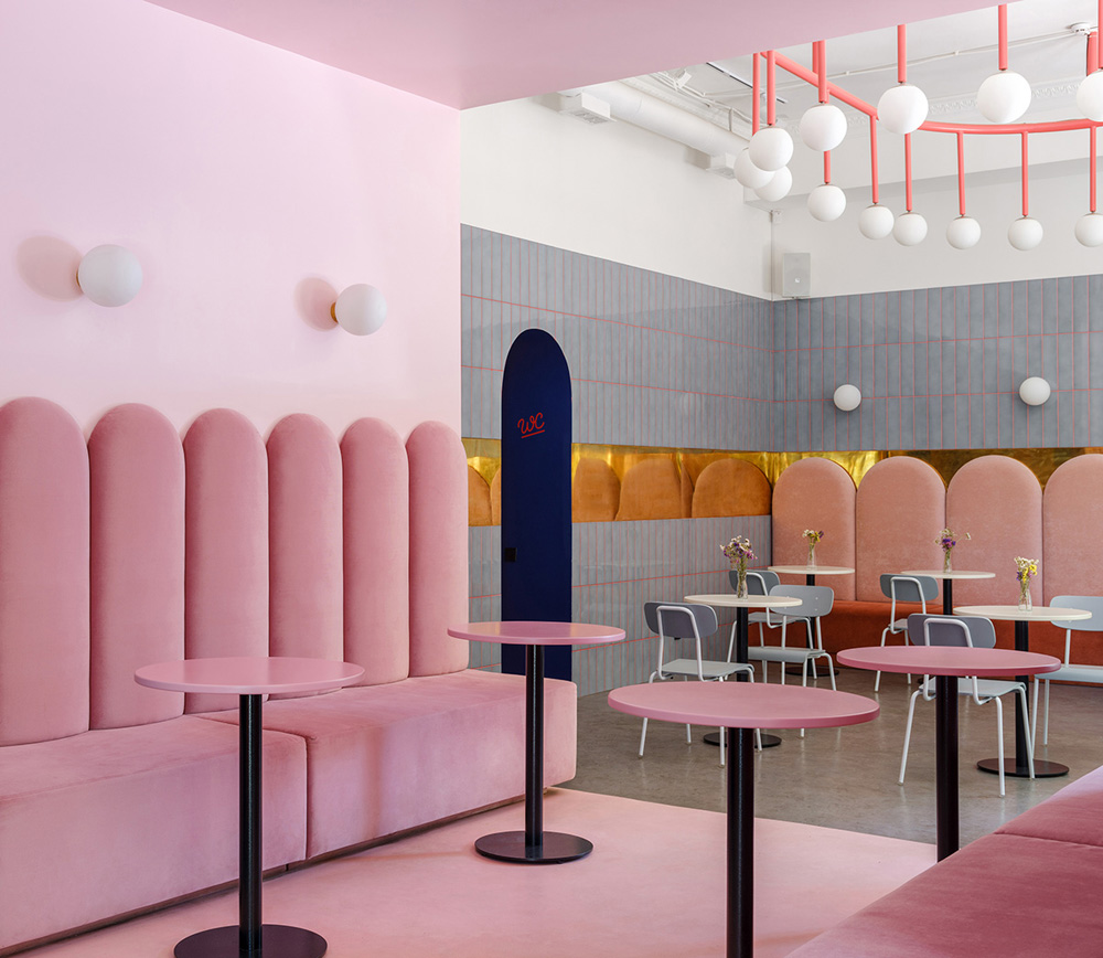 thiết kế quán cafe bánh ngọt lung linh 3