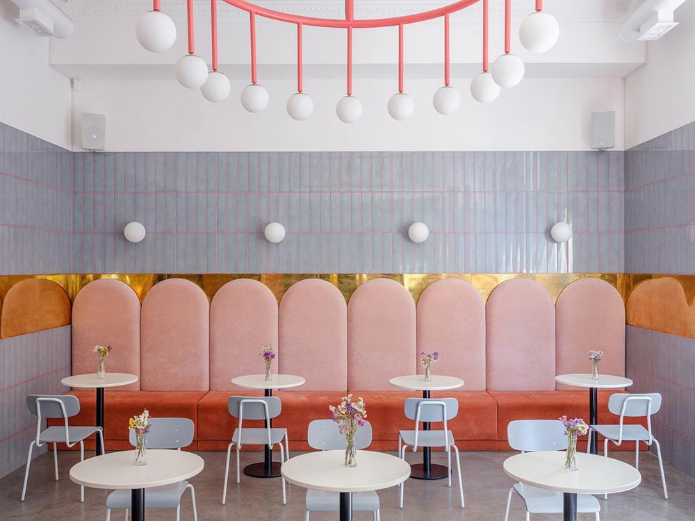 Ý tưởng thiết kế nội thất quán cafe bánh ngọt đẹp lung linh