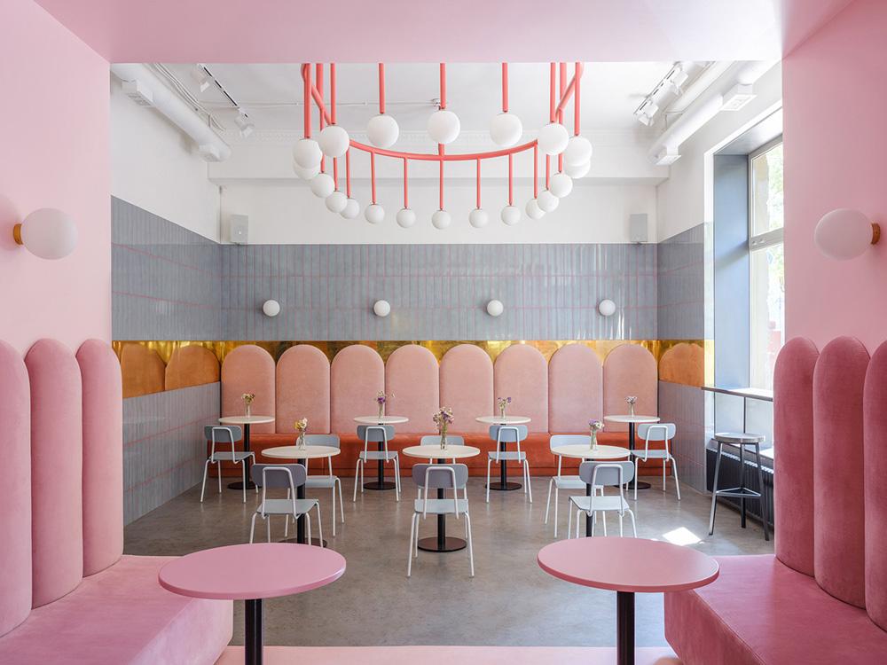 thiết kế quán cafe bánh ngọt lung linh 7