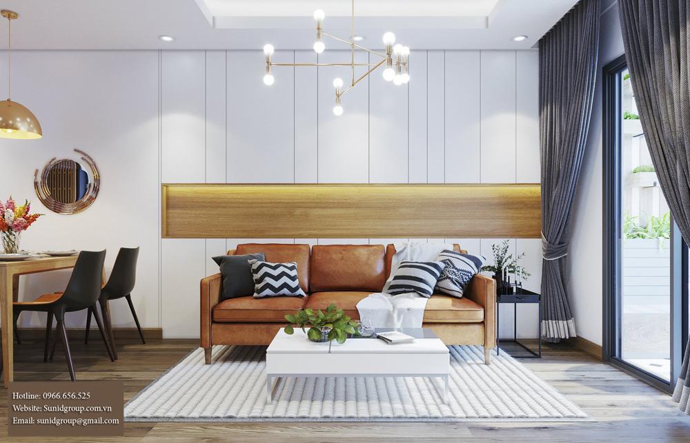 Thiết kế nội thất chung cư đẹp lung linh với gam màu vàng kem