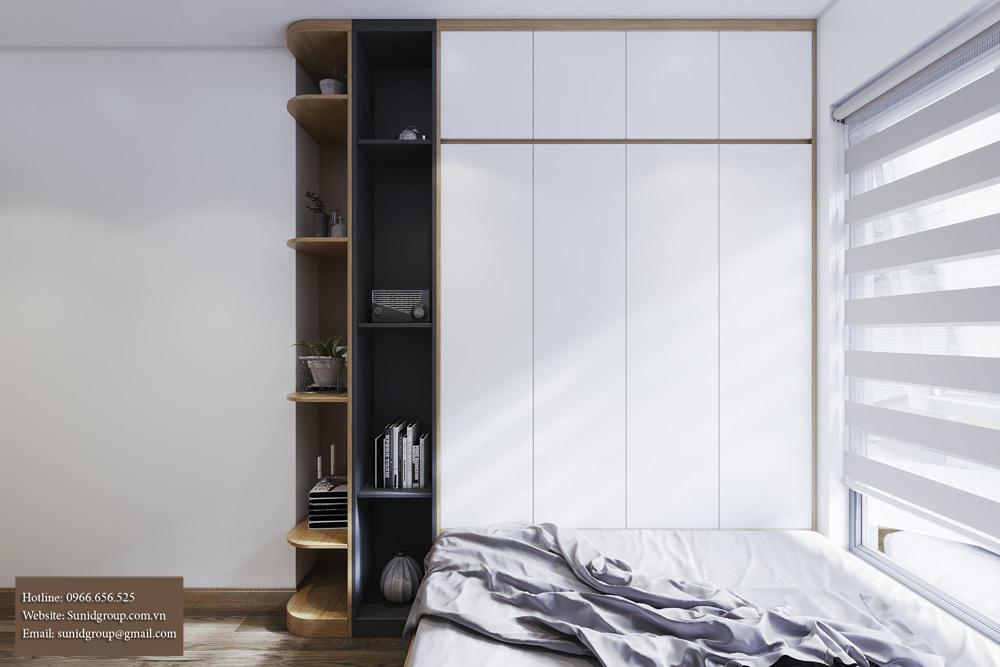thiết kế nội thất chung cư gam màu vàng kem 12