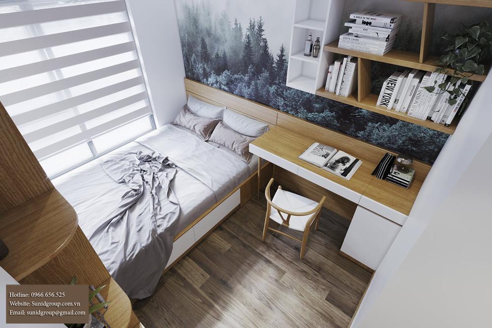 thiết kế nội thất chung cư gam màu vàng kem 13