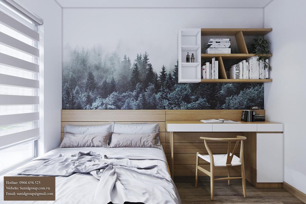 thiết kế nội thất chung cư gam màu vàng kem 14