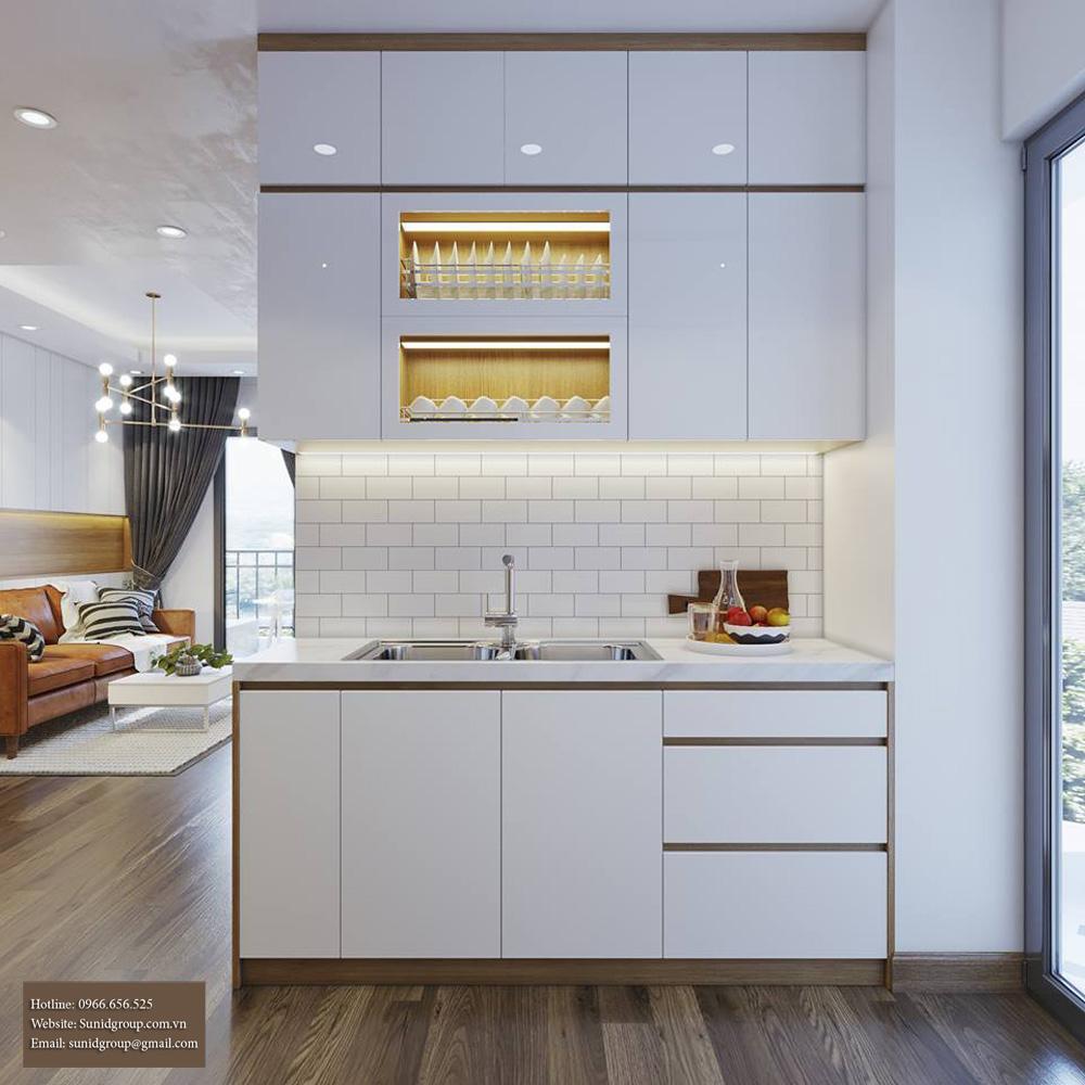 thiết kế nội thất chung cư gam màu vàng kem 5
