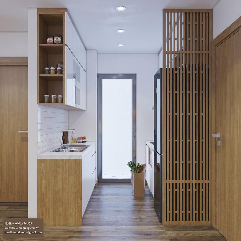 thiết kế nội thất chung cư gam màu vàng kem 6