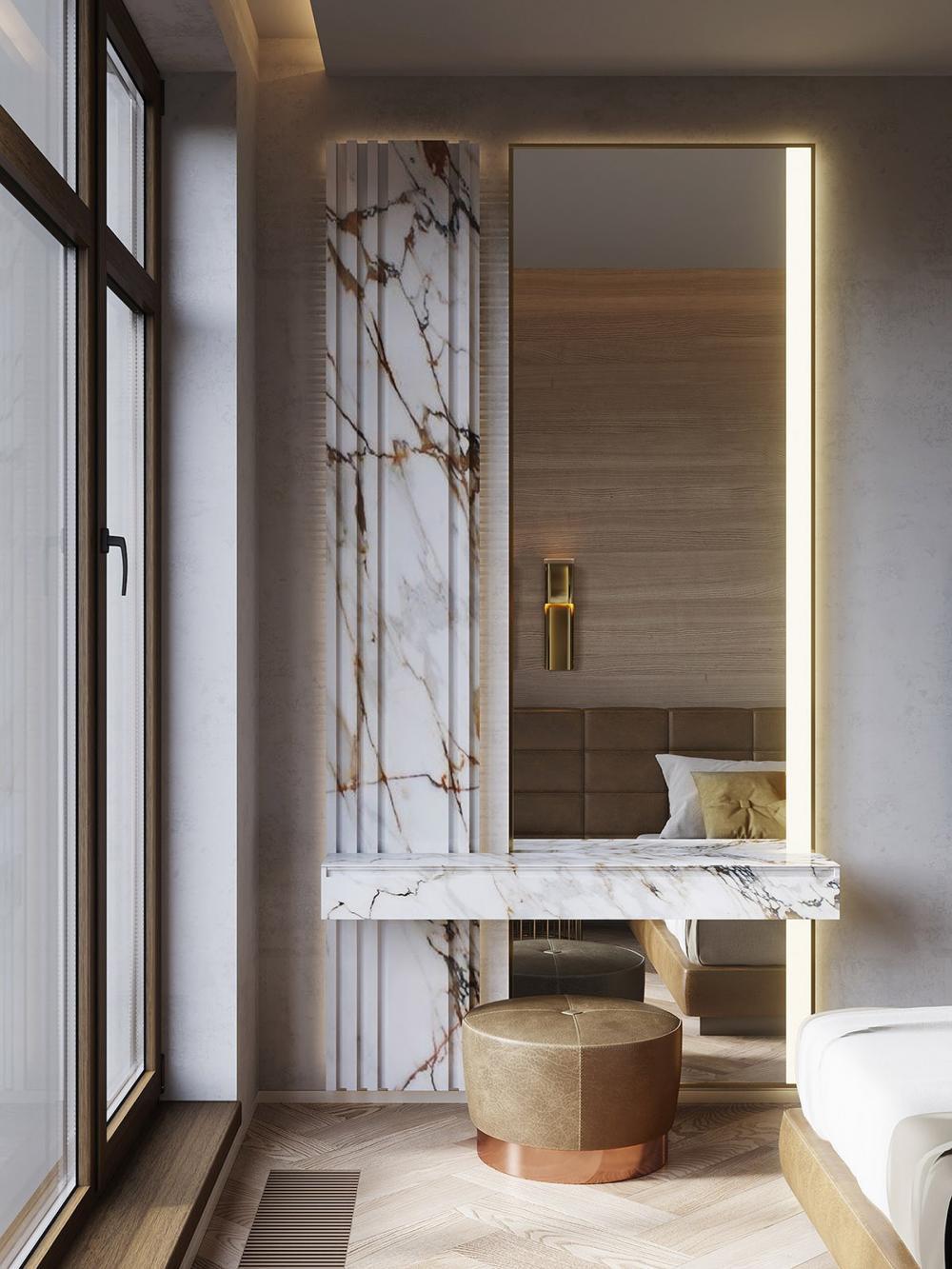 thiết kế nội thất đá cẩm thạch 5