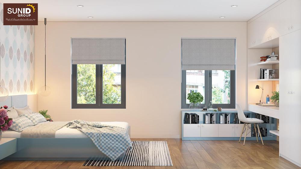 thiết kế nội thất nhà phố 2 phòng ngủ đẹp 10