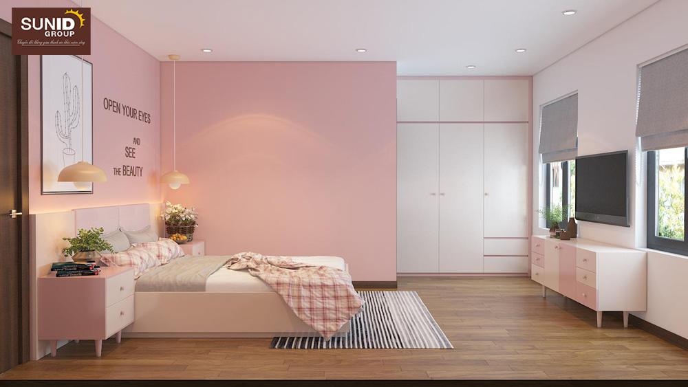 thiết kế nội thất nhà phố 2 phòng ngủ đẹp 12
