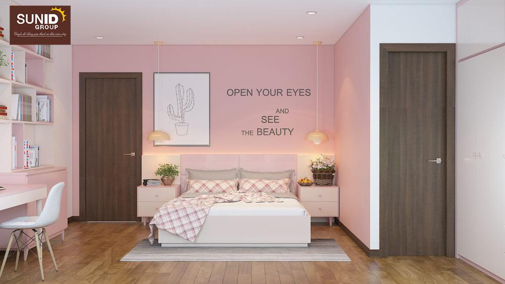 thiết kế nội thất nhà phố 2 phòng ngủ đẹp 13
