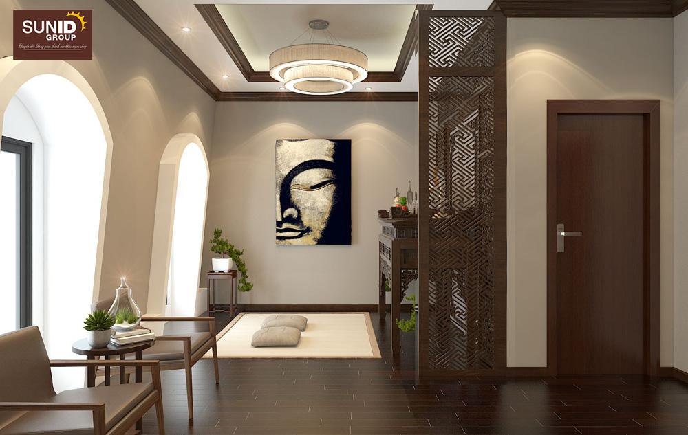 thiết kế nội thất nhà phố 2 phòng ngủ đẹp 15