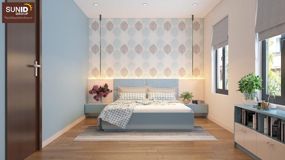 thiết kế nội thất nhà phố 2 phòng ngủ đẹp 9