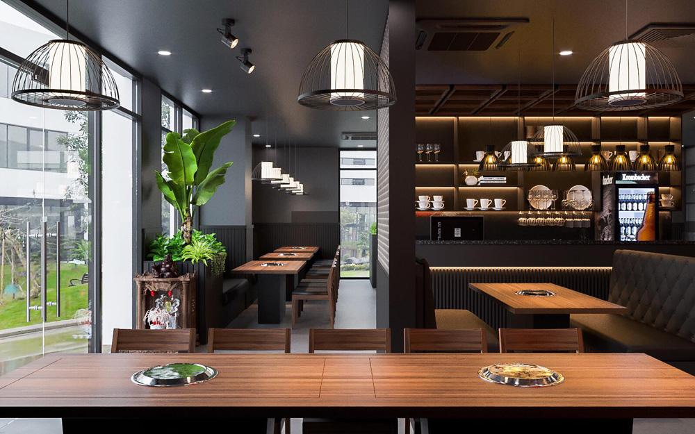 thiết kế thi công nội thất nhà hàng đẹp tại hà nội 1