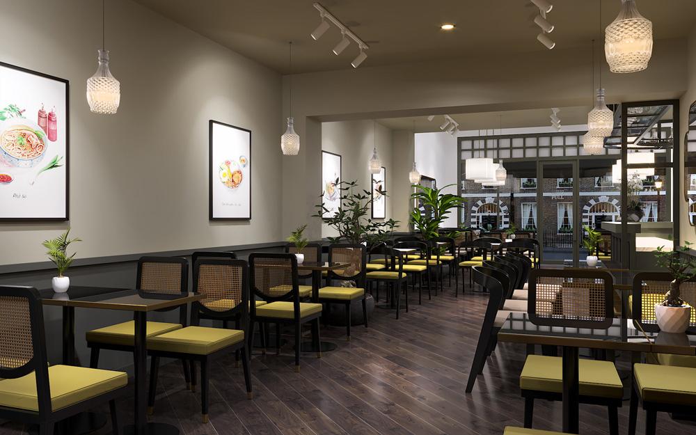 thiết kế thi công nội thất nhà hàng đẹp tại hà nội 12