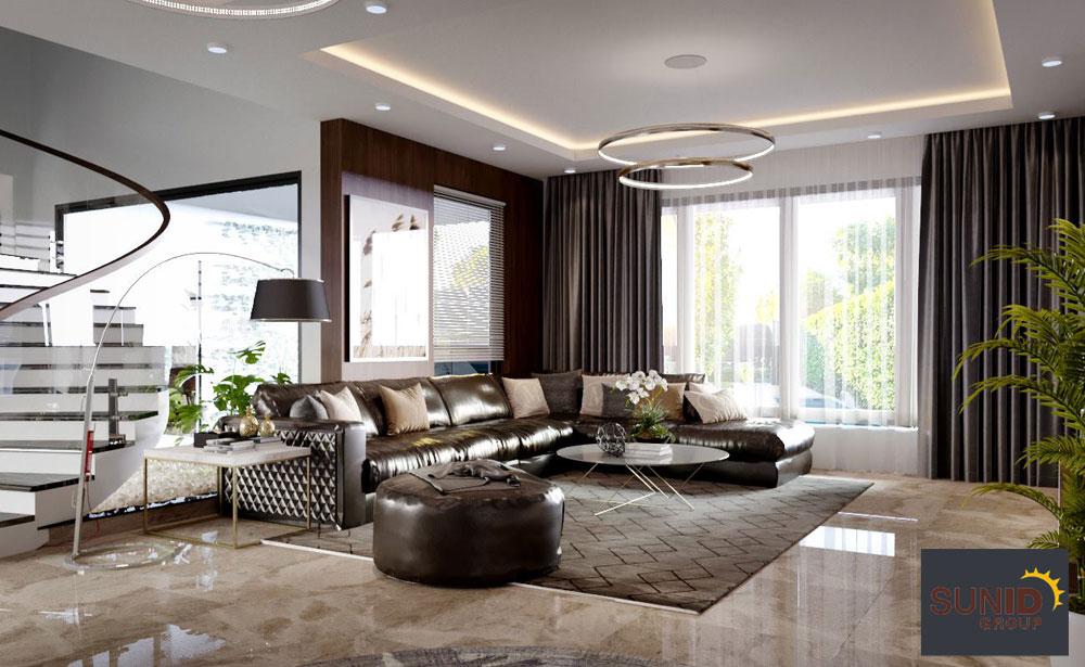 Thiết kế nội thất biệt thự hiện đại cao cấp 3 phòng ngủ