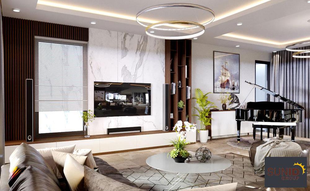 thiết kế nội thất biệt thự cao cấp 3 phòng ngủ 4