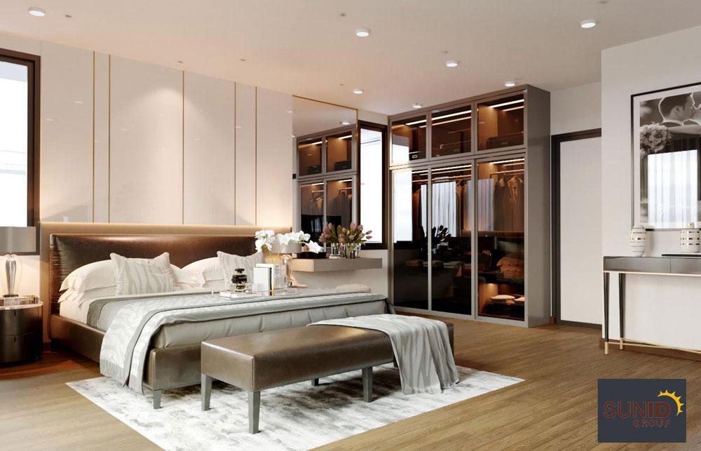 thiết kế nội thất biệt thự cao cấp 3 phòng ngủ 7