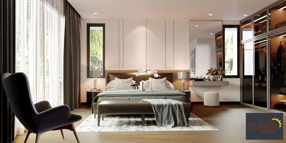 thiết kế nội thất biệt thự cao cấp 3 phòng ngủ 8