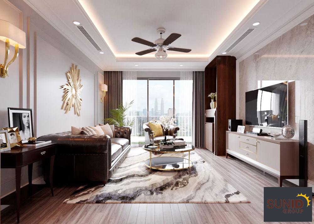 thiết kế nội thất chung cư tân cổ điển cao cấp 1