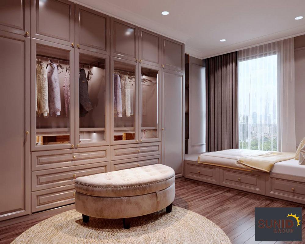 thiết kế nội thất chung cư tân cổ điển cao cấp 13