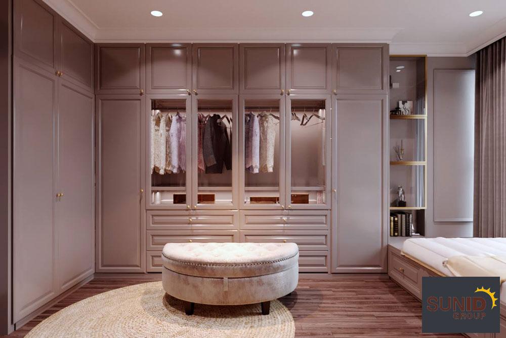 thiết kế nội thất chung cư tân cổ điển cao cấp 14