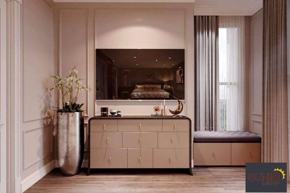 thiết kế nội thất chung cư tân cổ điển cao cấp 19