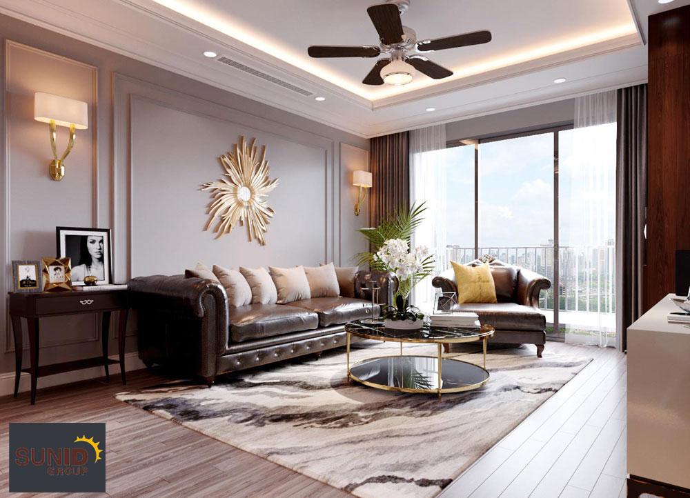 thiết kế nội thất chung cư tân cổ điển cao cấp 2