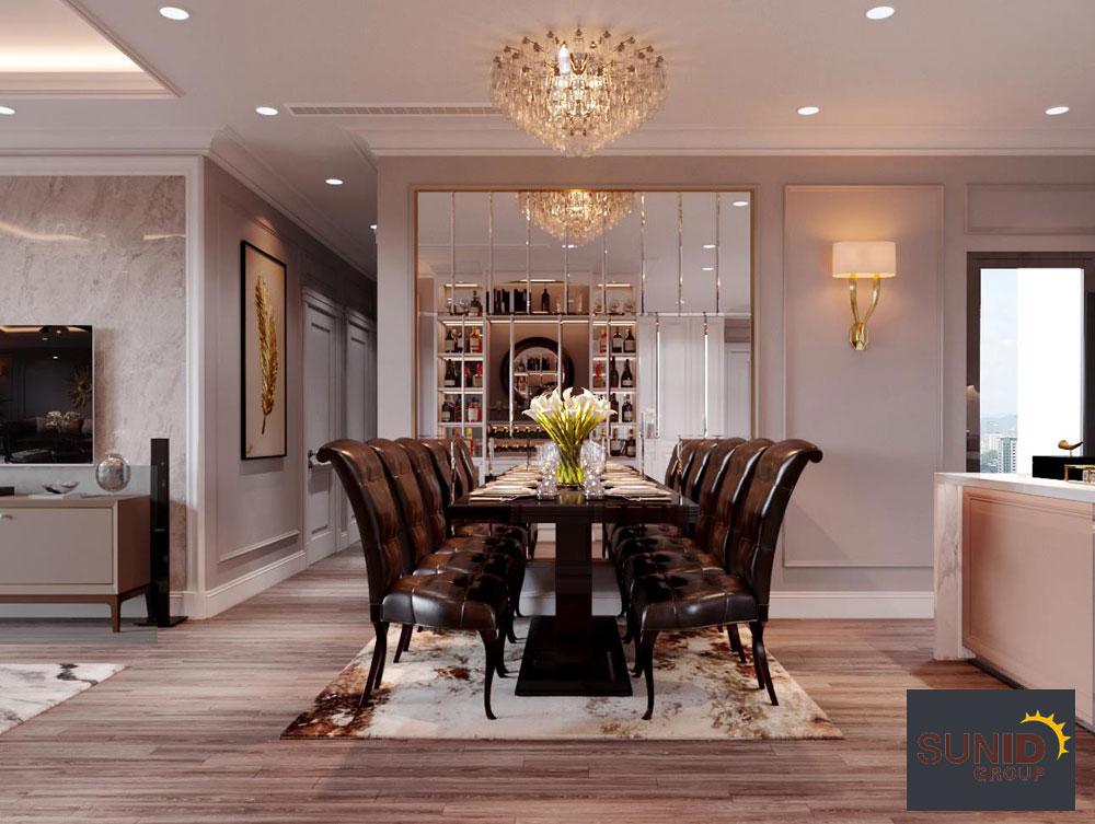 thiết kế nội thất chung cư tân cổ điển cao cấp 4