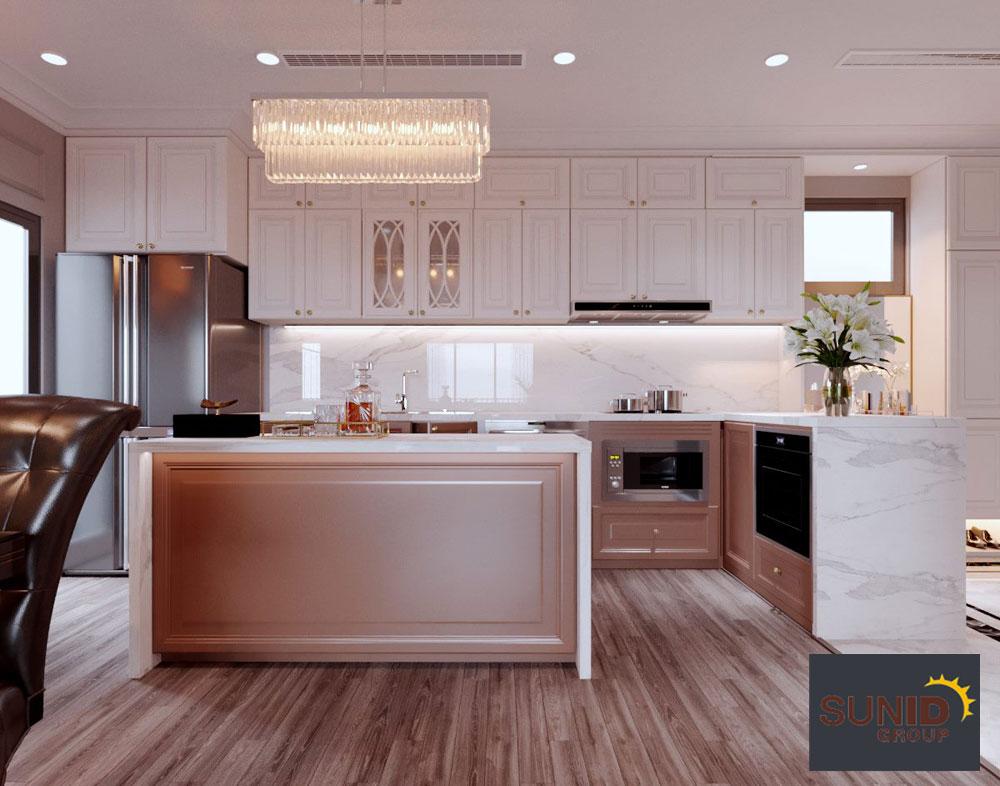 thiết kế nội thất chung cư tân cổ điển cao cấp 5