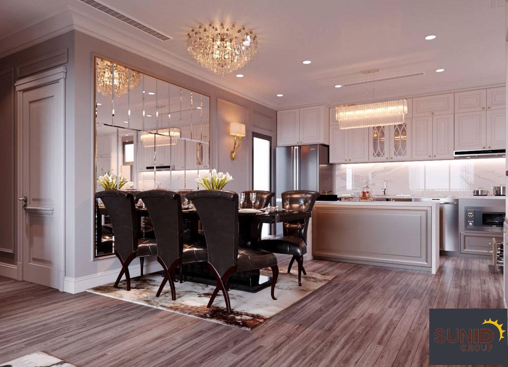 thiết kế nội thất chung cư tân cổ điển cao cấp 6