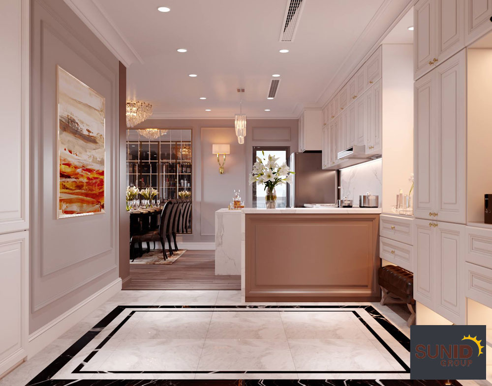 thiết kế nội thất chung cư tân cổ điển cao cấp 7