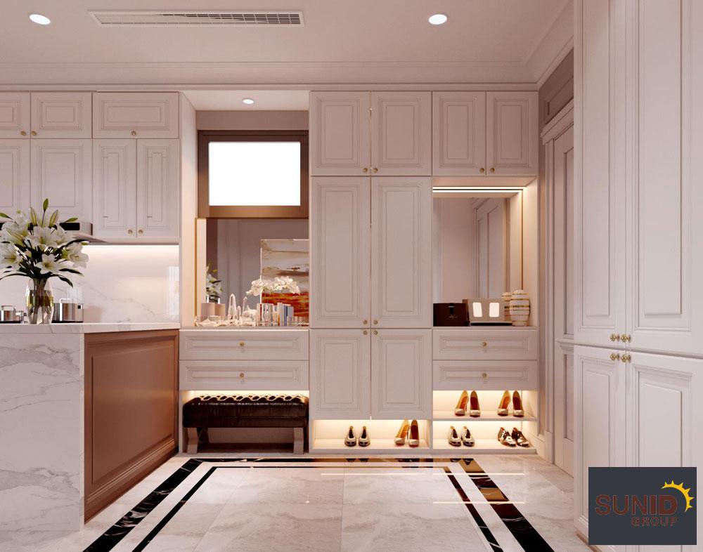 thiết kế nội thất chung cư tân cổ điển cao cấp 8