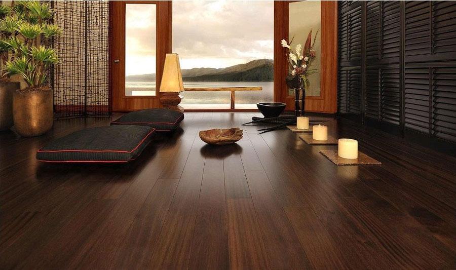 kết hợp sàn gỗ với đồ nội thất