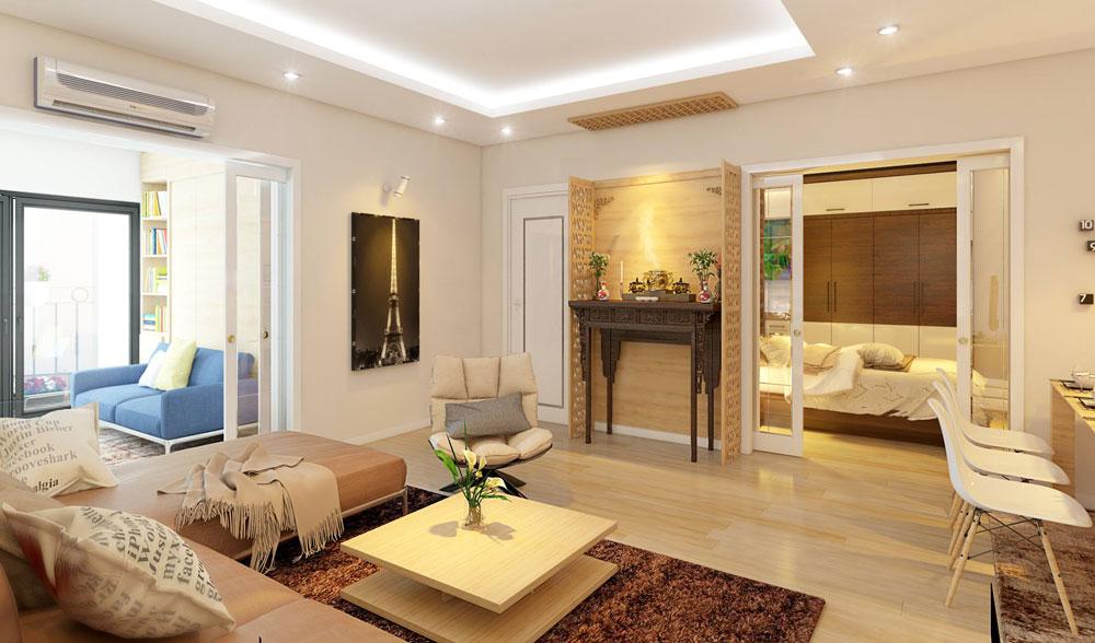 thiết kế nội thất chung cư đơn giản tối ưu chi phí 3