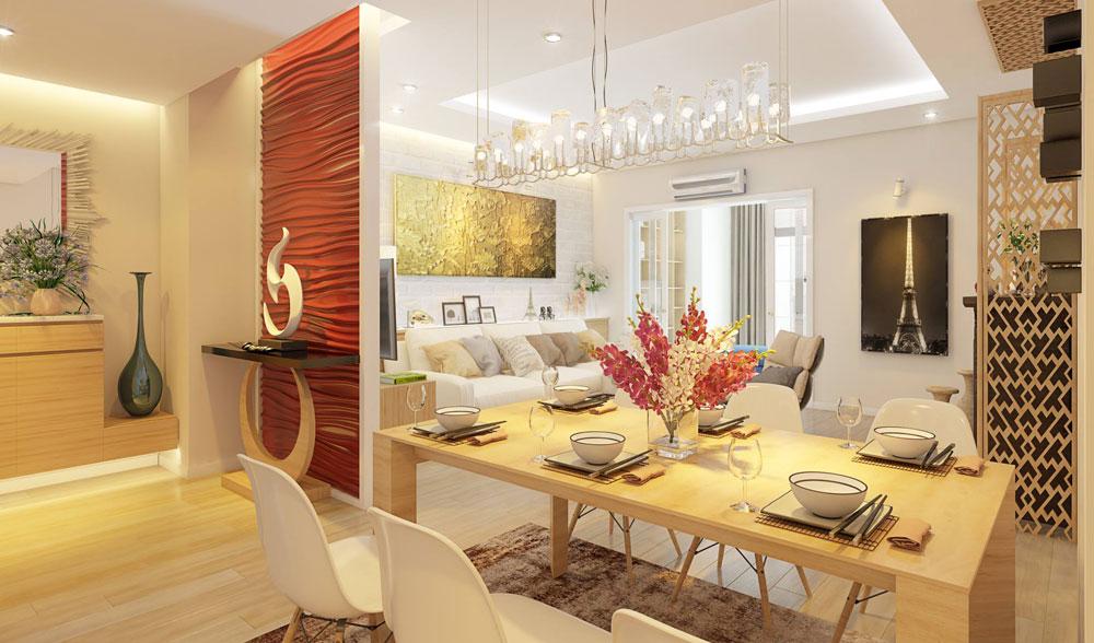 thiết kế nội thất chung cư đơn giản tối ưu chi phí 6