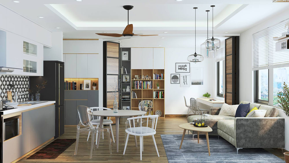 thiết kế nội thất chung cư 50m2 ảnh 1