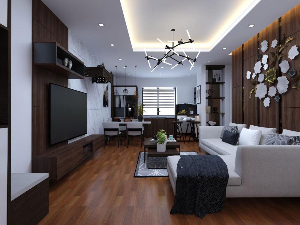 thiết kế nội thất chung cư 72m2 ảnh 1
