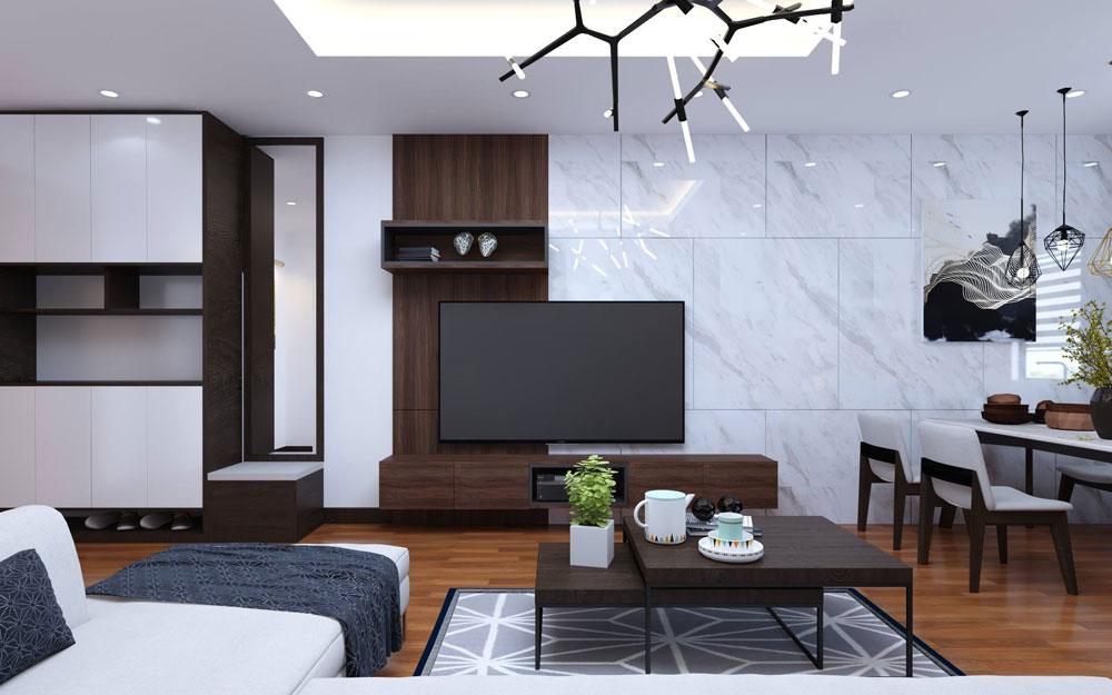 Thiết kế nội thất chung cư 72m2 hiện đại tiện nghi