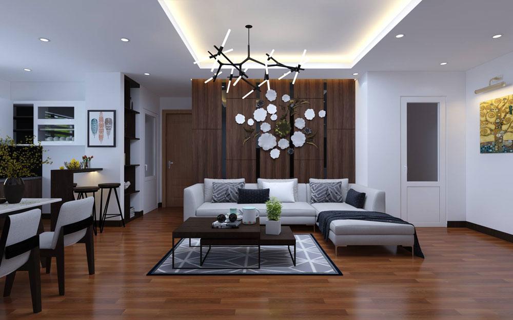 thiết kế nội thất chung cư 72m2 ảnh 3