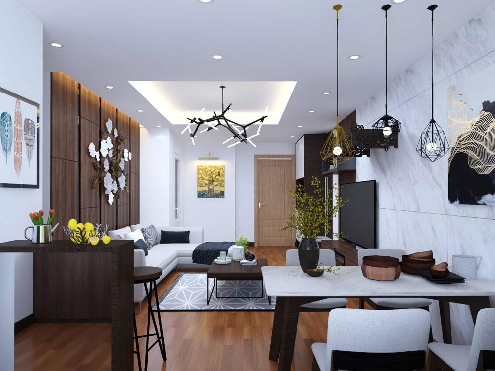thiết kế nội thất chung cư 72m2 ảnh 4