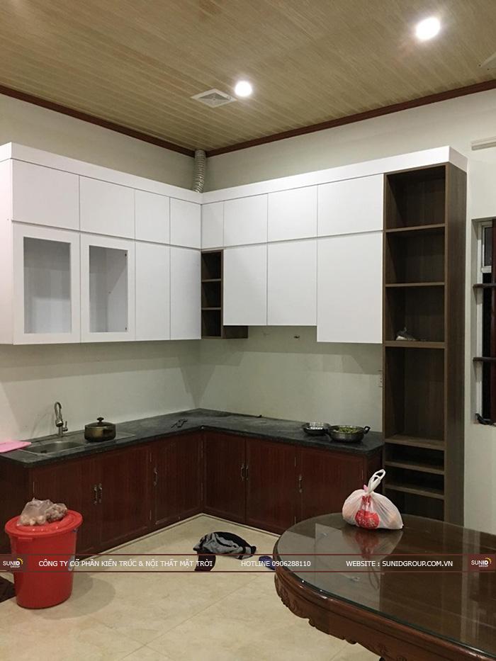 Lắp đặt tủ bếp nhà chị Trang