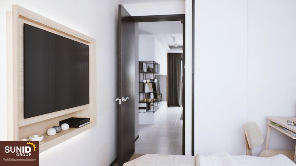 Cánh cửa phòng ngủ Master