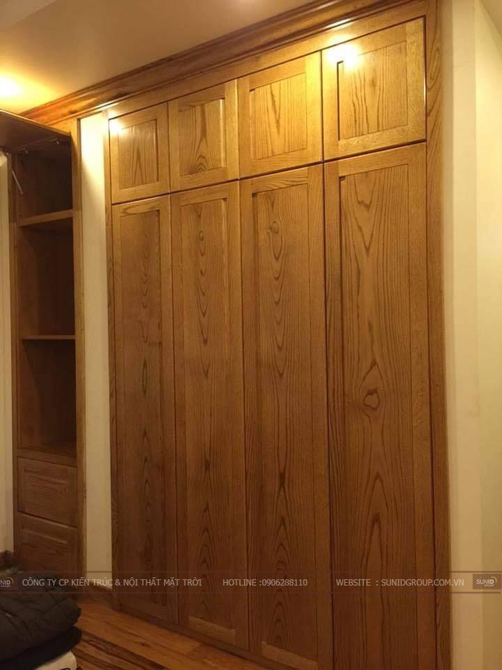 Lắp đặt tủ quần áo phòng ngủ master