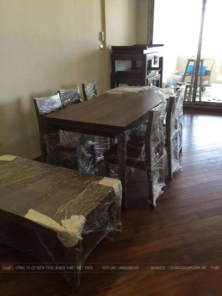 Lắp đặt bộ bàn ghế phòng ăn