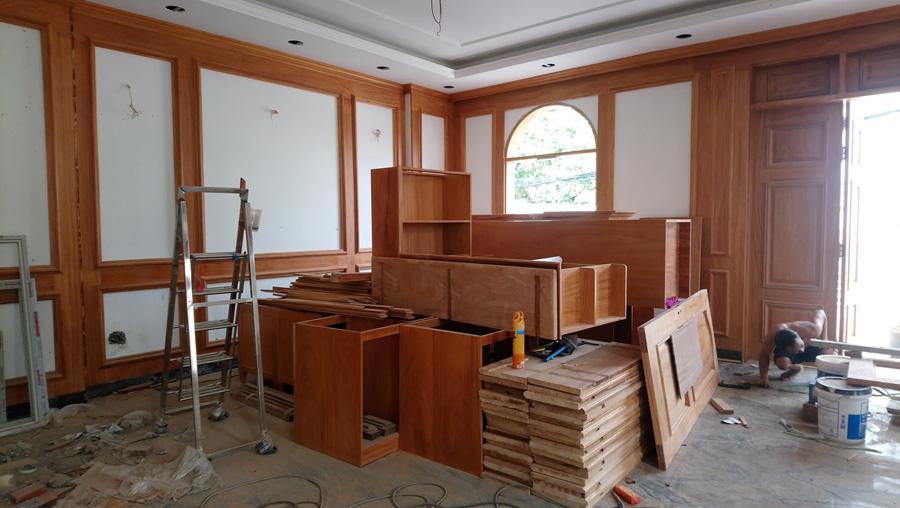 Thi công lắp đặt hoàn thiện nội thất biệt thự cao cấp tại Nam Định