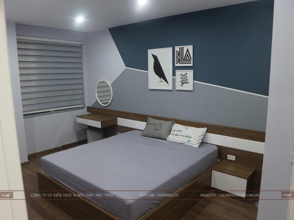View 05 - Thiết kế nội thất phòng ngủ Master chung cư Riverside Garden
