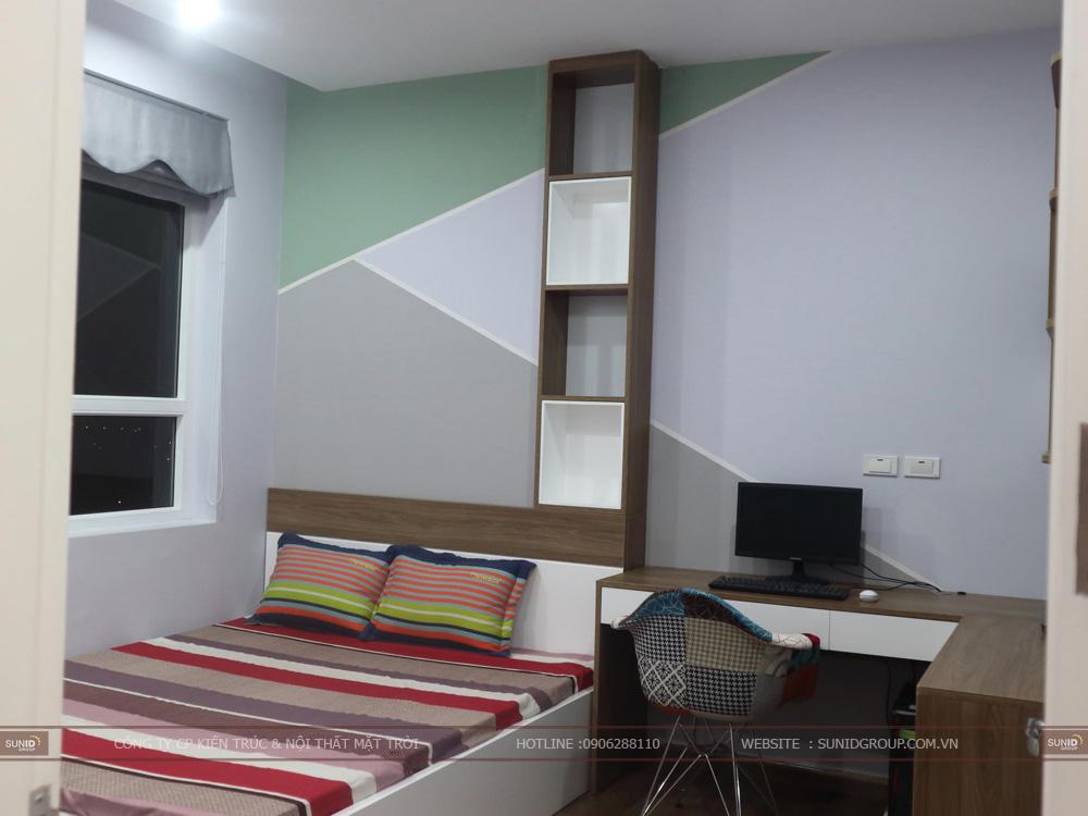 Phòng ngủ thứ 2 của căn hộ chung cư Riverside Garden 349 Vũ Tông Phan