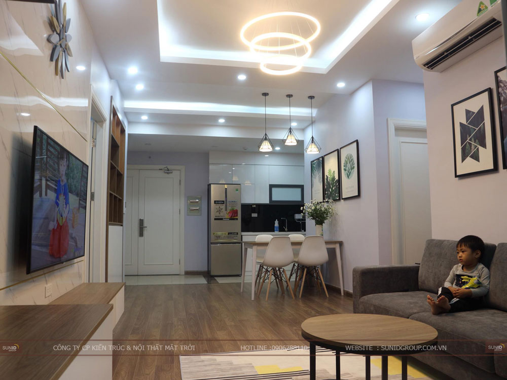 View 03 - Thiết kế nội thất không gian bếp chung cư Riverside Garden